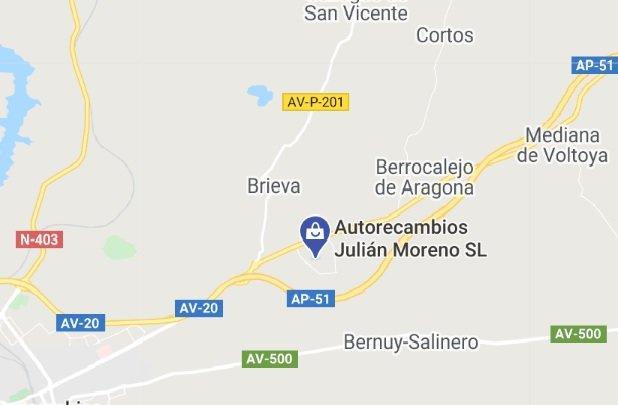 Autos Recambios Julian Moreno Localización